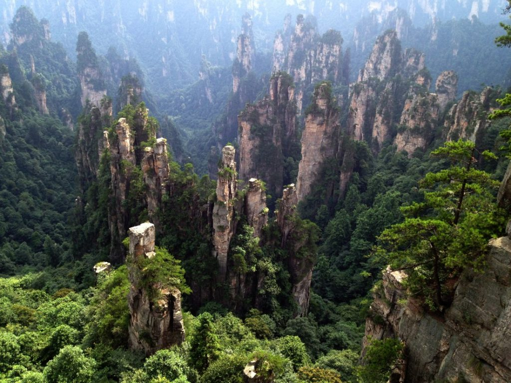 Wulingyuan, Hunan Province, China | Image via Backyardtravel.com