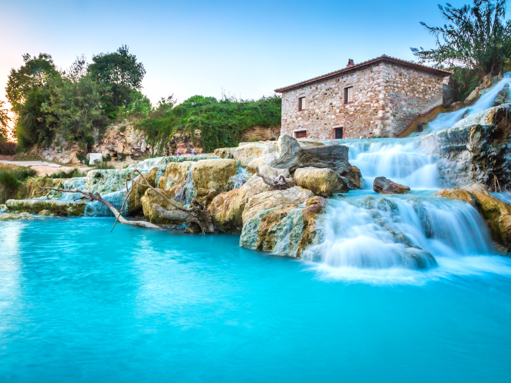 Saturnia Hot Springs, Tuscany, Italy | Image via Business Insider