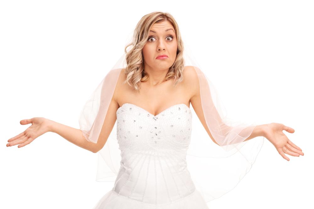 Confused bride